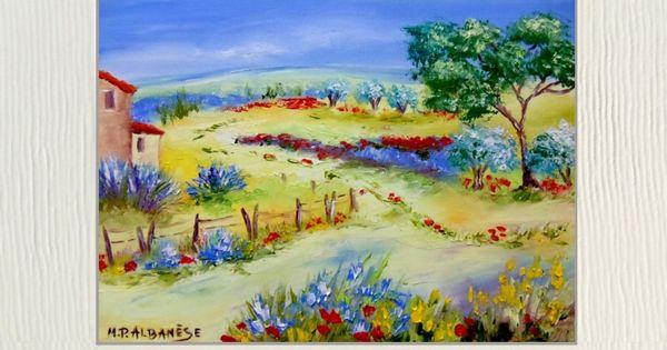 tableau peinture tableaux de provence paysage de provence campagne cabanon l peintre. Black Bedroom Furniture Sets. Home Design Ideas