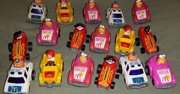 1985 Set Of 17 Mcdonalds Happy Meal Fast Macs Pull Back Cars Happy Meal Mcdonalds Happy Meal Happy Meal Toys