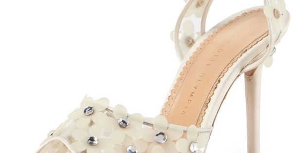 Charlotte Olympia Daisy PVC Ankle-Wrap Sandal | See more about Charlotte Olympia, Daisies and Sandals.