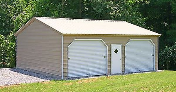 20 X 26 X 10 Metal Building Delivered And Installed Perfect Two Car Garage In Business Industrial Co Metal Buildings Metal Garage Buildings Carport Garage