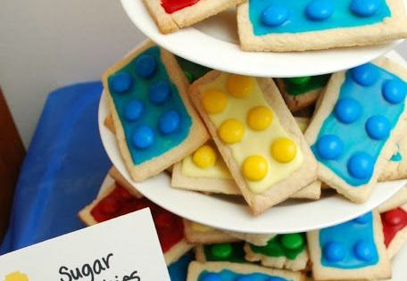 It's Party Time! 15 Toddler Birthday Party Ideas. Lego sugar cookies