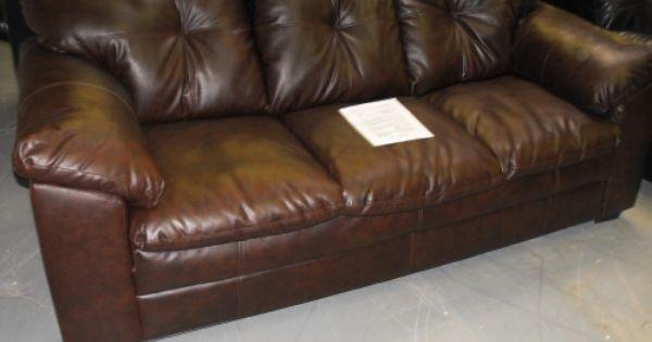 Corinthian 3 Seat Leather Sofa Full Pad Over Arms And Backs Serta Cushion Seating Find Big Savings In Minor Transit Damaged Leather Sofa Leather Seat Sofa