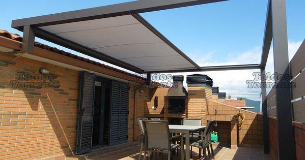 Toldo estructura metalica buscar con google maison pinterest pergolas patios and gardens - Pergola metal adossee ...