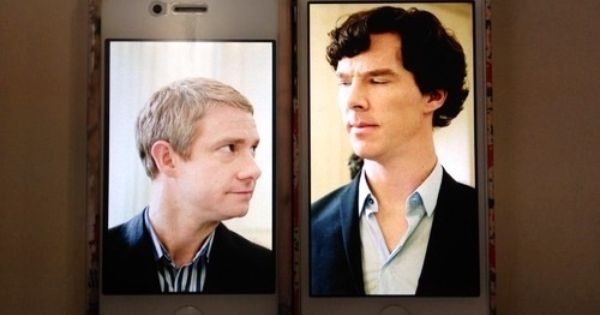 This is so adorable Johnlock