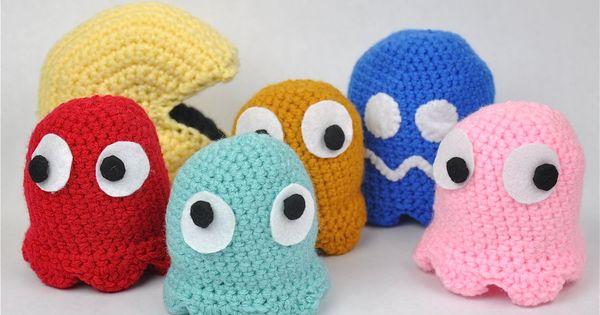 Pac Man Friends - FREE crochet tutorial
