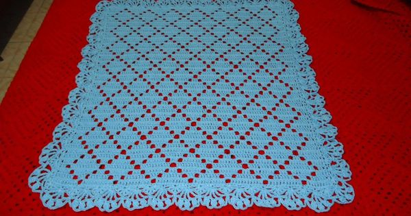 Mantilla al crochet mantas de beb pinterest mantas - Manta de bebe a ganchillo ...