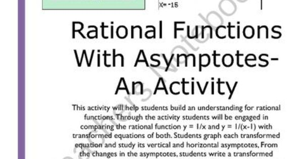 rational functions with asymptotes an activity from jamesrahn on 11. Black Bedroom Furniture Sets. Home Design Ideas