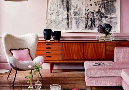 mid century pink in the living interior design office design architecture interior