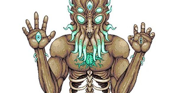Image Result For Terraria Moon Lord Fan Art Art Fan Art Lion Sculpture