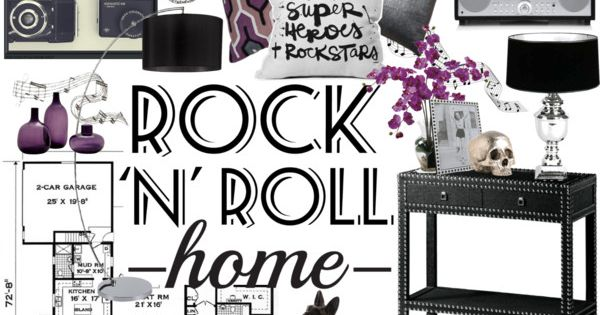 Rock n roll home decor by crystal85 on polyvore for Rock home decor