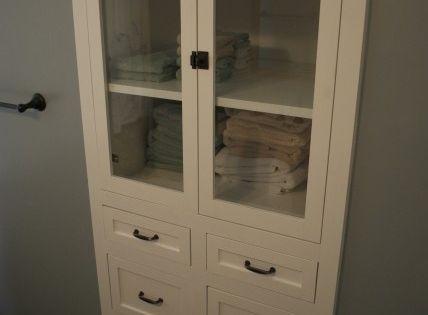 Master bath - linen closet idea --- Remove your closet door... Do