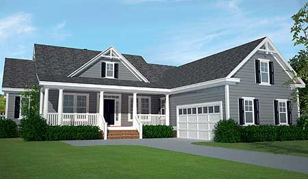Plan 15059nc Country Home Plan With Porches And A Deck Too American Houses Country House Plans Ranch House Plans