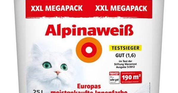 Alpinaweiss Matt 25 L Innenfarbe Wolle Kaufen Wandfarbe Weiss