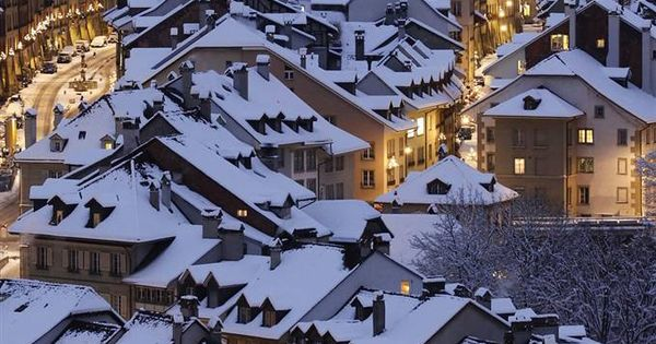 artsandletters: The roofs of Bern's, Switzerland, old town are covered by snow.