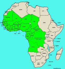 West And Central Africa Map Untitled Document in 2020 | Africa map, Africa, Map