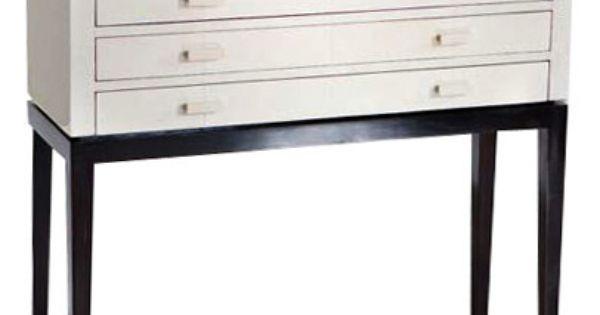 GALART Ivory Shagreen Console 39x14x38.5