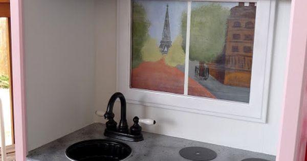 Repurpose Entertainment Center to Play kitchen designs kitchen design living room design