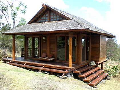 Tiny Temple Eco Home On Foundations By Mandala Eco Homes Tropical House Design Tiny House Design Bamboo House Design