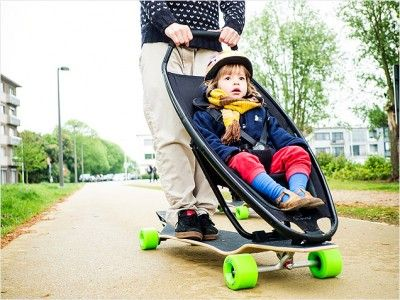 Awesome Longboard Stroller For Cool Urban Parents By Quinny 1