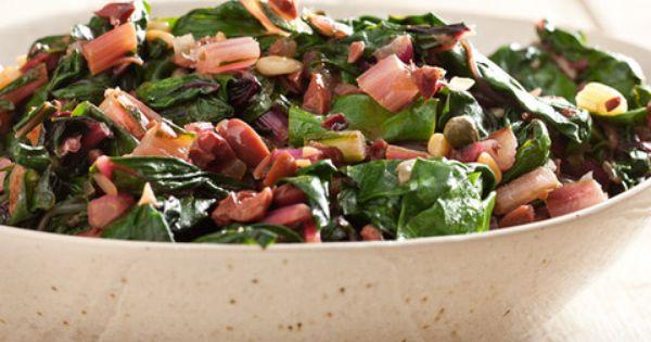 Mediterranean Braised Chard | Recipe | Chard Recipes, Kalamata Olives ...