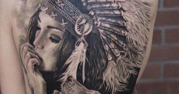 tattoo indianer frau und wolf rosen pinterest wolf. Black Bedroom Furniture Sets. Home Design Ideas