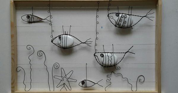 aquarium poissons galets et fil recuit aquarium poisson aquarium et d corations murales. Black Bedroom Furniture Sets. Home Design Ideas