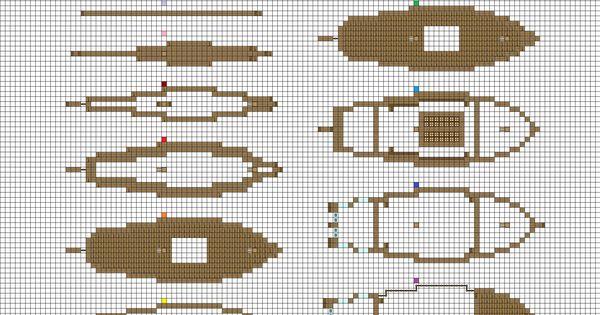 Minecraft sailing Brig plans pg1 hull by ColtCoyote.deviantart.com on @DeviantArt | minecraft ...