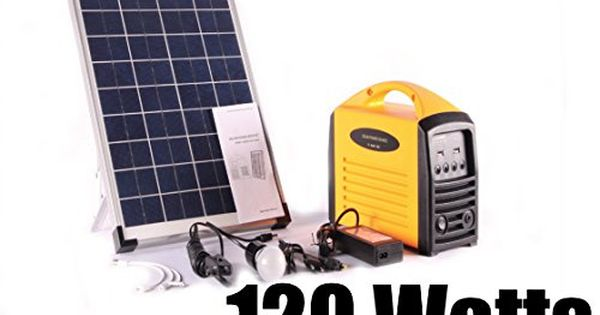 Portable Solar Generator 120 Watts To View Further For This Item Visit The Image Link Note It S An Affili Portable Solar Generator Solar Generator Solar