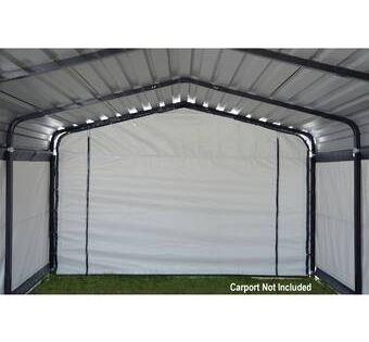 19 5 Ft X 19 5 Ft Canopy Steel Carports Shed Kits Carport
