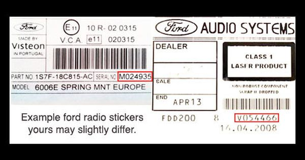 Official Ford Fiesta Radio Codes Instantly Unlocked Ford Fiesta Radio Coding