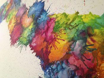 Nueva Tecnica Para Pintar Con Crayones Arte Con Ceras Fundidas