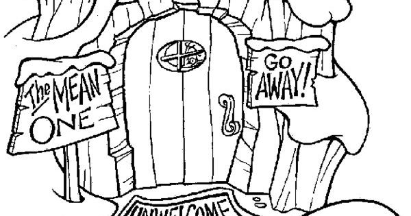 whoville houses coloring pages - dr seuss the grinch coloring pages google search