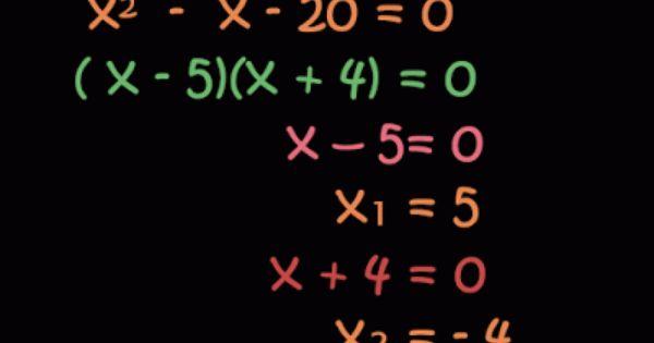 Resolución Ecuaciones Cuadráticas Por Factorización Ecuaciones Cuadraticas Ecuaciones Matematicas