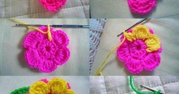 Crochet Flowers Tutorial By Carmen Heffernan : ???? ???????? ???????, ????? ?? ?????, ??????? ...