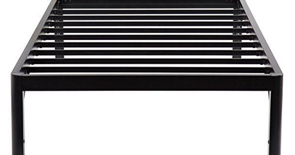 Primasleep 14 Inch Tall Metal Bed Frame With Round Edge Nonslip Steel Slat Mattress Platform Foundation Aps Twin Black Madera Y Metal Camas Madera