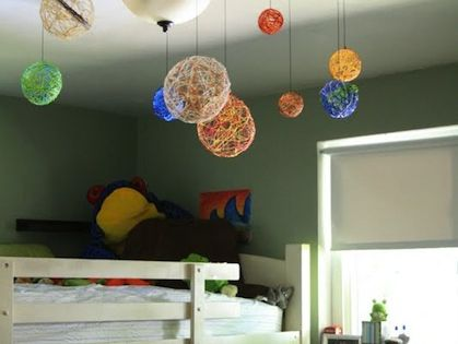 Easy crafts for kids: Embroidery Solar System