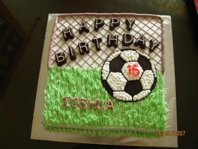 Football Cake For A Birthday Football Cake Design Football Cake Soccer Ball Cake