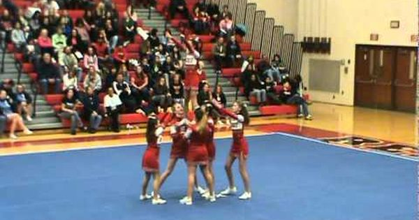 Middle School Cheer Stunt Off. pretty good for there ages ...