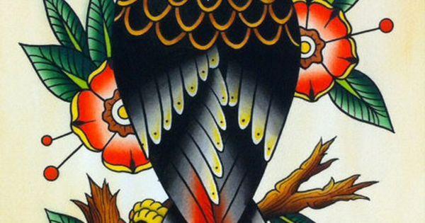 Traditional Eagle Tattoo Flash PRINT by ChristinaPlatis on ...