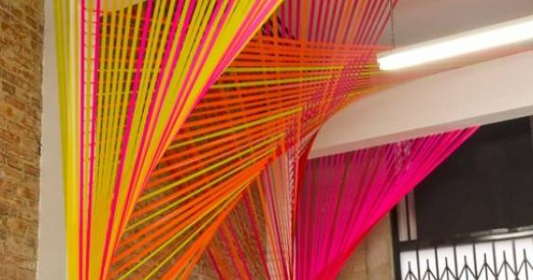 Use string in your corporate colors - create some ...
