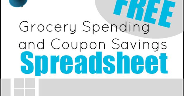 Free grocery and coupon savings spreadsheet free groceries for Coupon template google docs