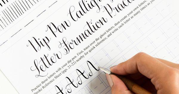 Premium calligraphy worksheet set amy style worksheets