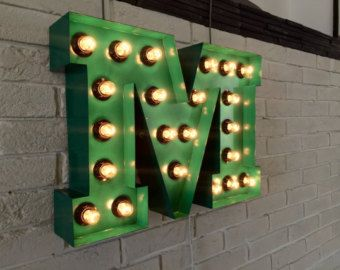 Wall Decor Living Room Industrial Decor Metal Arrow Light Up Wall Sign Wall Decor Sign Arrow Arrow Sign Bulbs Marquee Light Up Sign