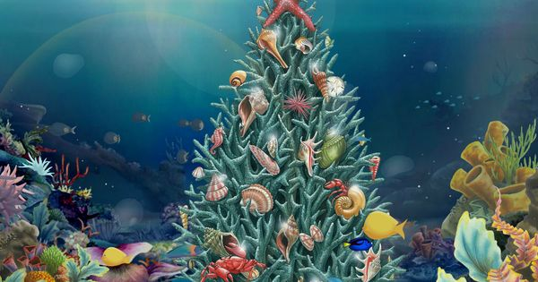 Pin By Taymee Khoo On Underwater Christmas Deco Fantasy Art Painting Christmas Deco