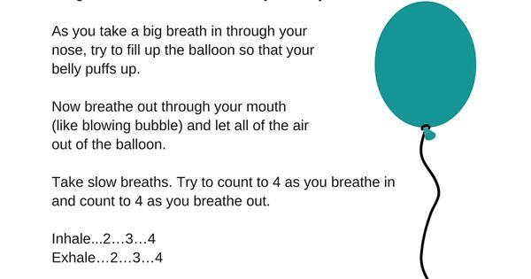 Handout To Teach Kids About Deep Breathing For Relaxation
