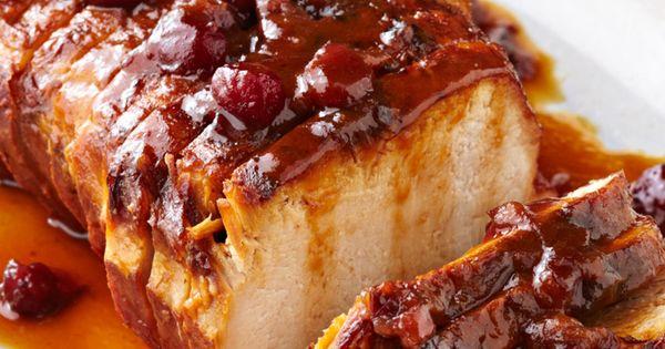 R ti de porc aux canneberges et l 39 orange la mijoteuse - Cuisiner roti de boeuf ...
