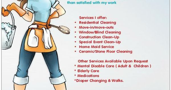 cleaning service advertisement example