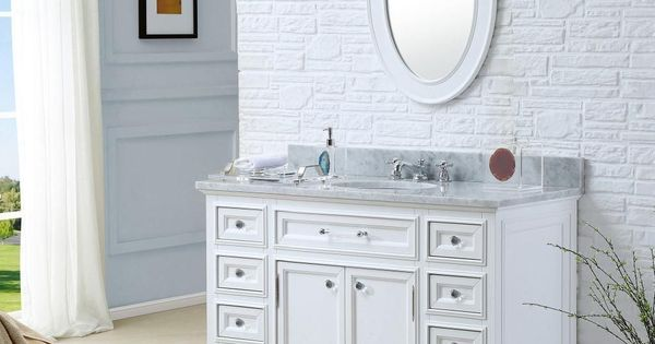 Update your bathroom with the simply elegant design of this single sink vanity set the matching - Simply design a bathroom vanity with five steps ...
