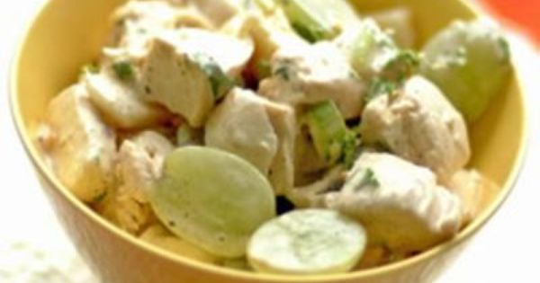 Cheese, Carols Chicken Salad, Tender Chicken Breast Chunks Are Mixed With Sweet