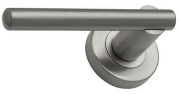 Rossina Round Rose Door Handle Brushed Nickel 27 99 Door Handles Outdoor Living Diy Homebase